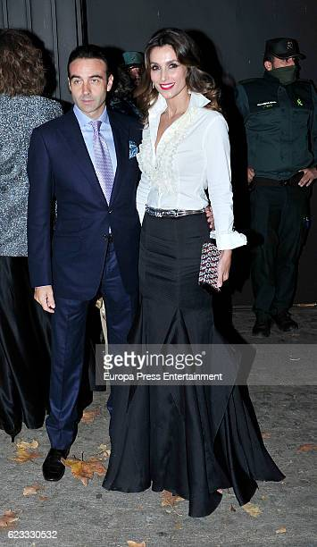 Enrique Ponce and Paloma Cuevas attend the tribute to designer Carolina Herrera at USA Embassy on November 14 2016 in Madrid Spain