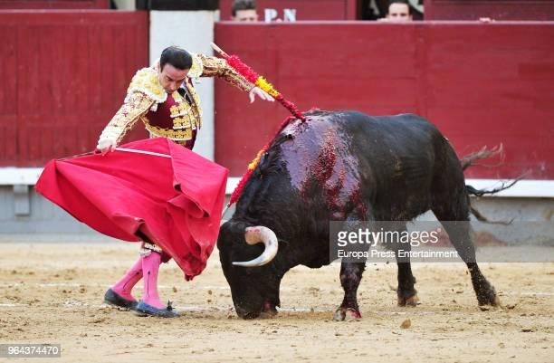 Enrique Ponce performs during San Isidro Fair at Las Ventas Bullring on May 30 2018 in Madrid Spain