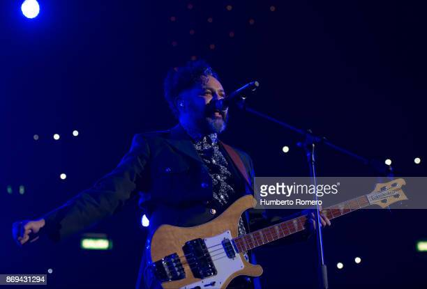 Enrique Rangel from Café Tacuba performs during a show as part of the AMPLIFICA concert in benefit of the September 19th earthquake victims at...