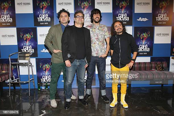 Enrique Rangel Quike Joselo Rangel Oso Emmanuel del Real Meme and Rubén Albarrán of Cafe Tacuba sign their album El Objeto Antes Llamado and promote...