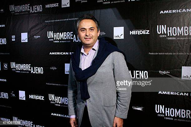Enrique Rubio attends to the premiere of the play Hombre Ajeno on February 20 2014 in Mexico City Mexico