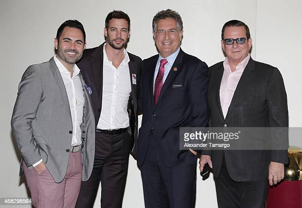 Enrique Santos William Levy Joe Garcia and Herman Echevarria are seen at the Latino Victory Project Rally at Florida International University on...