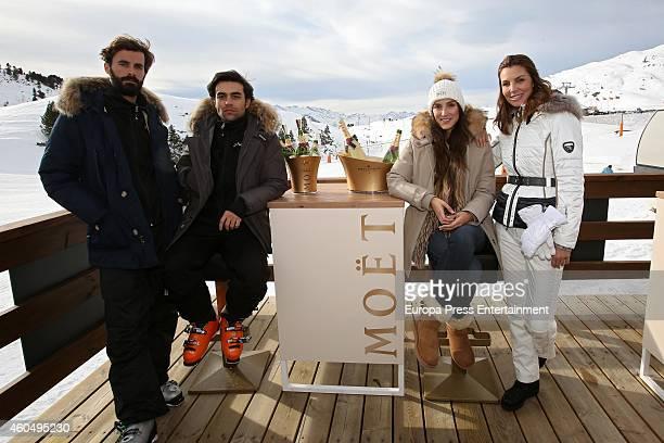 Enrique Solis Diego Osorio Tamara Falco and Mar Flores attend Moet Winter Lounge In Baqueira ski resort on December 13 2014 in Baqueira Beret Spain