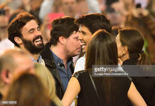 Enrique Solis Fernando Verdasco Ana Boyer and Isabel Preysler atttend Enrique Iglesias concert on November 15 2014 in Madrid Spain