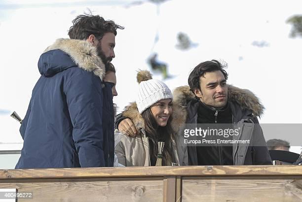Enrique Solis Mar Flores Tamara Falco and Diego Osorio attend Moet Winter Lounge In Baqueira ski resort on December 13 2014 in Baqueira Beret Spain