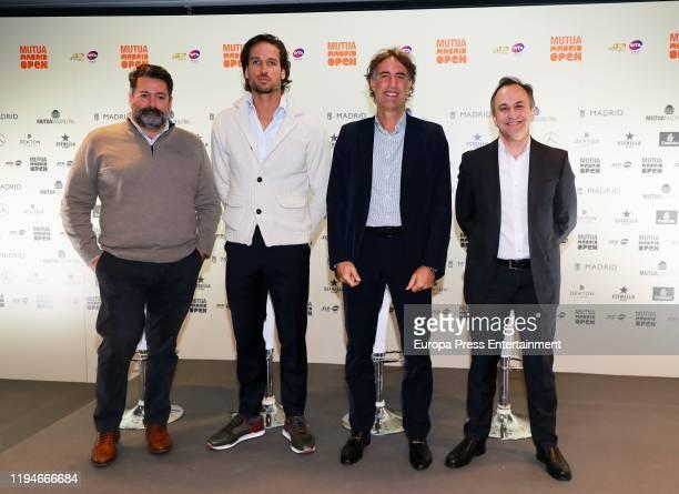 Enrique Tellechea CEO of The Null Feliciano Lopez Gerard Tsobanian CEO of Mutua Madrid Open and Andres San Jose Gutierrez Country Manager Espana of...