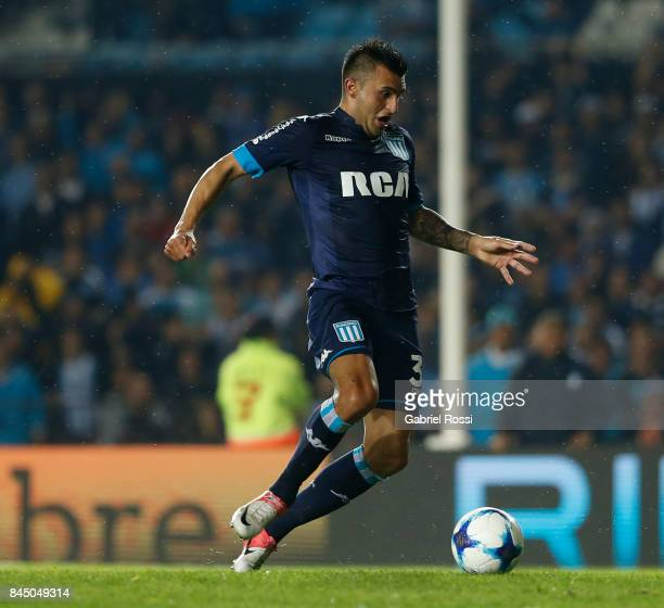 Enrique Triverio of Racing Club kicks the ball to score the first goal of his team during a match between Racing Club and Temperley as part of the...