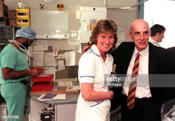 Enrolled Nurse Sally Anderson was reunited with Scottish Health Minister Sam Galbraith at Aberdeen Royal Infirmary's Intensive therapy unit today ....
