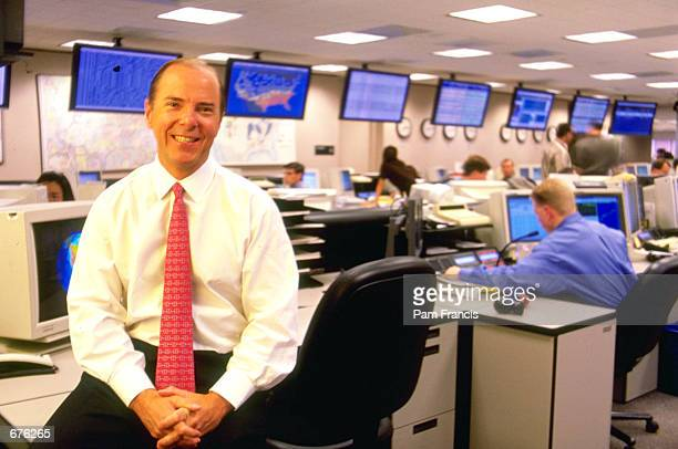 Enron Chief Executive Jeff Skilling poses together on the trading floor in March 1999 in Houston TX Enron filed for Chapter 11 protection December 3...