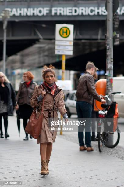Ensaf Haidar the Canadianbased wife of imprisoned Saudi blogger Raif Badawi walks through downtown BerlinGermany 12 November 2015 Badawi father of...