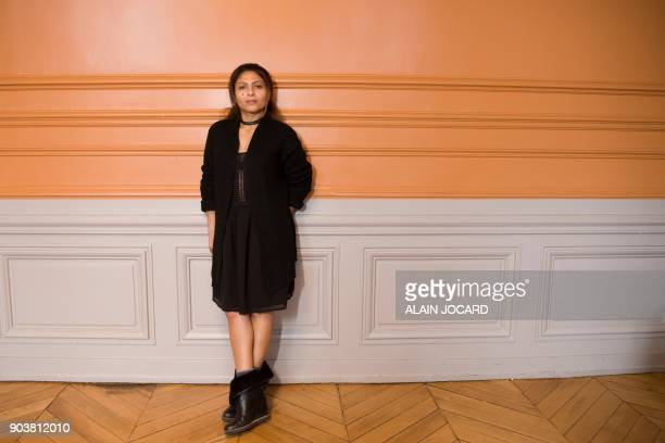 Ensaf Haidar wife of jailed Saudi blogger Raif Badawi poses for pictures on January 10 in Paris Ensaf Haidar mother to the couple's three children...
