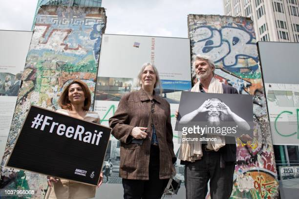 Ensaf Haidar wife of the imprisoned SaudiArabian blogger Raif Badawi musician Patti Smith and Chris Dercon director of the Tate Modern in London...