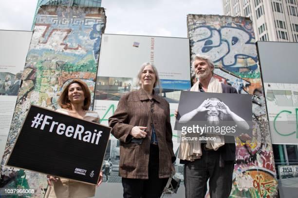Ensaf Haidar wife of the imprisoned SaudiArabian blogger Raif Badawi musician Patti Smith and Chris Dercon director of theTate Modern in London...