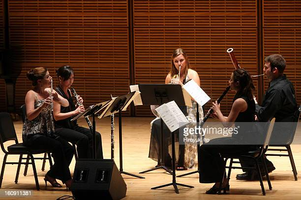 Ensemble ACJW performing at Zankel Hall on Friday night June 13 2008This imageFrom left Erin Lesser Winnie Lai Alana Vegter Romie de GuiseLanglois...