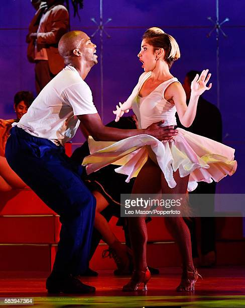 Ensemble Company dancers performing 'Vamos Cuba' directed by Nilda Guerra at Sadler's Wells Theatre on July 25 2016 in London England
