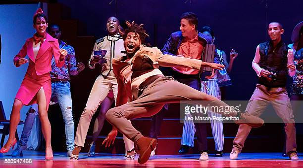 "Ensemble Company dancers performing ""Vamos Cuba!"" directed by Nilda Guerra at Sadler's Wells Theatre on July 25, 2016 in London, England."