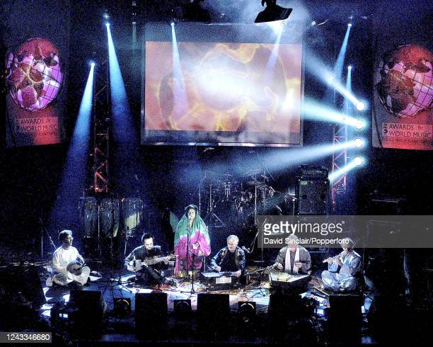 Ensemble Kaboul perform live on stage with Mahwash at the BBC Radio 3 World Music Awards in London on 24th March 2003