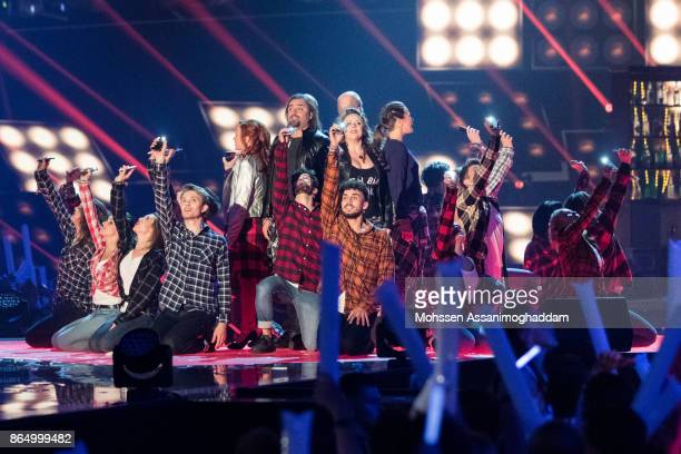 Ensemble of the Musical Wahnsinn performs during the show 'Das Internationale Schlagerfest' at Westfalenhalle on October 21 2017 in Dortmund Germany