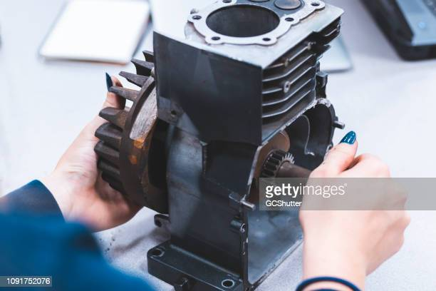 ensuring gears are rotating appropriately - cleveland ohio stock pictures, royalty-free photos & images