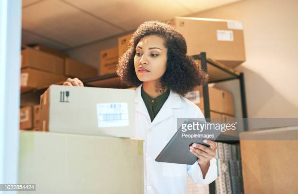 ensuring that stock arrives on time every time - medical supplies stock pictures, royalty-free photos & images