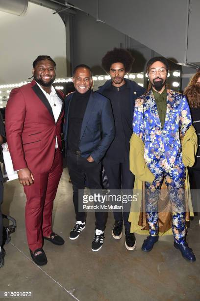 <<enter caption here>> attend The Blue Jacket Fashion Show Benefiting Prostate Cancer Foundation at Pier 59 on February 7 2018 in New York City