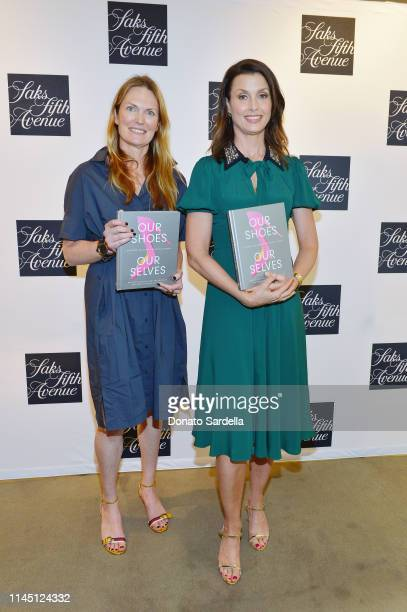 <<enter caption here>> attends Saks Beverly Hills Celebrates Our Shoes Our Selves Book Launch with Bridget Moynahan and Amanda Benchley on April 25...