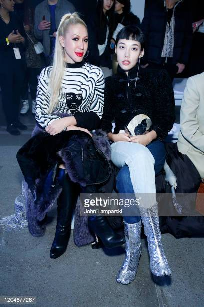 <<enter caption here>> attends the Blancore fashion show during February 2020 New York Fashion Week The Shows at Gallery II at Spring Studios on...