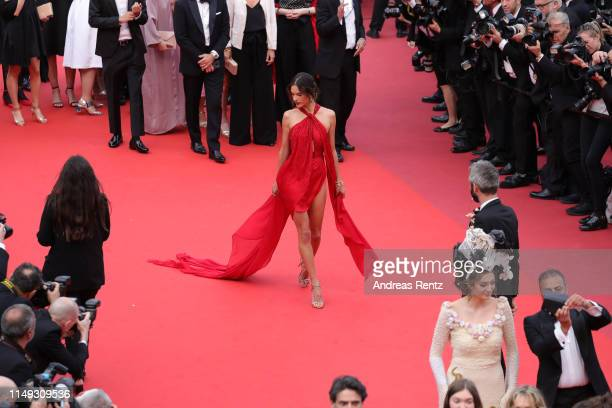 <<enter caption here>> attends the screening of Les Miserables during the 72nd annual Cannes Film Festival on May 15 2019 in Cannes France