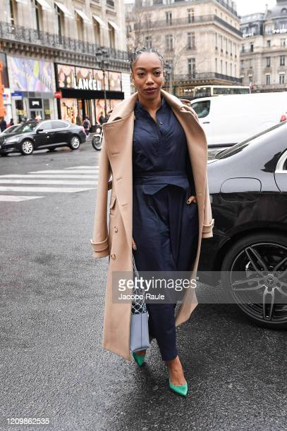 <<enter caption here>> attends the Stella McCartney show as part of the Paris Fashion Week Womenswear Fall/Winter 2020/2021 on March 02 2020 in Paris...