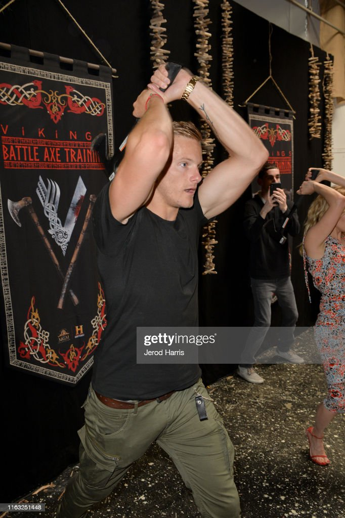 enter caption here>> attends Vikings Battle Axe Training at San