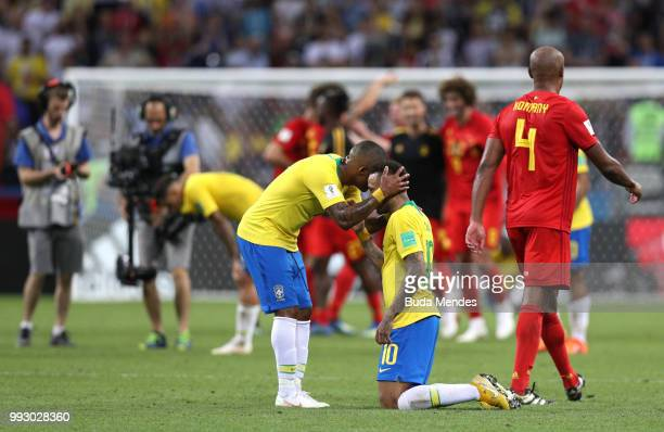 <enter caption here> during the 2018 FIFA World Cup Russia Quarter Final match between Brazil and Belgium at Kazan Arena on July 6 2018 in Kazan...