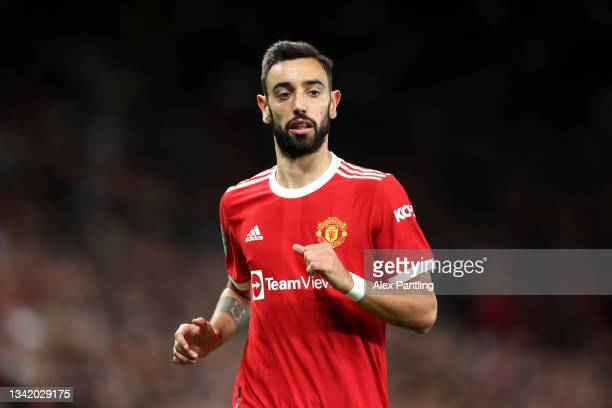 Enter caption here>> during the Carabao Cup Third Round match between Manchester United and West Ham United at Old Trafford on September 22, 2021 in...