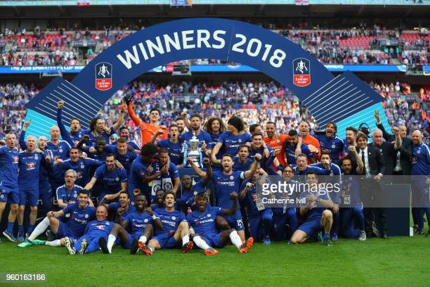 <enter caption here> during The Emirates FA Cup Final between Chelsea and Manchester United at Wembley Stadium on May 19 2018 in London England