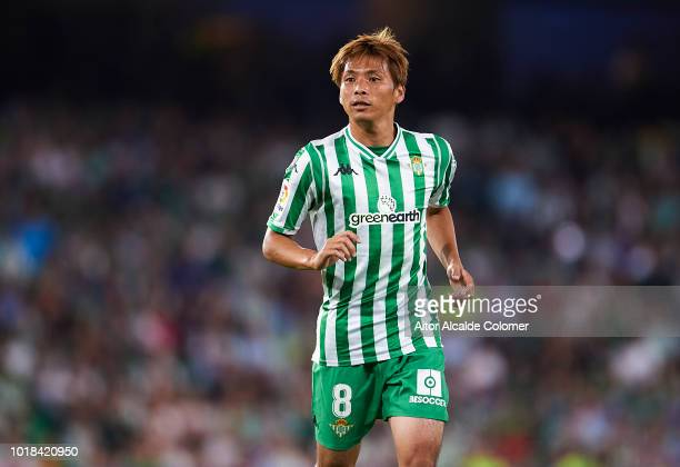 <enter caption here> during the La Liga match between Real Betis Balompie and Levante UD at Estadio Benito Villamarin on August 17 2018 in Seville...