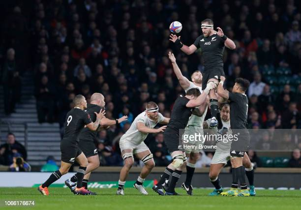 <enter caption here> during the Quilter International match between England and New Zealand at Twickenham Stadium on November 10 2018 in London...