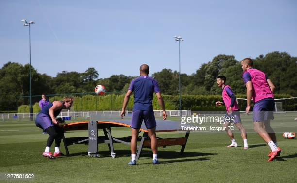 Enter caption here>> during the Tottenham Hotspur training session at Tottenham Hotspur Training Centre on May 28, 2020 in Enfield, England.