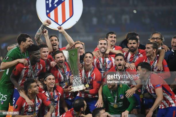 <enter caption here> during the UEFA Europa League Final between Olympique de Marseille and Club Atletico de Madrid at Stade de Lyon on May 16 2018...