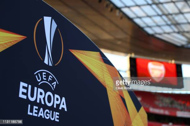 <enter caption here> during the UEFA Europa League Round of 32 Second Leg match between Arsenal and BATE Borisov at Emirates Stadium on February 21...