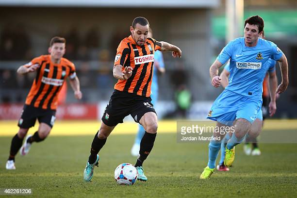 <enter caption here> during the Vanarama Football Conference League match between Barnet and Southport at The Hive on January 24 2015 in Barnet...