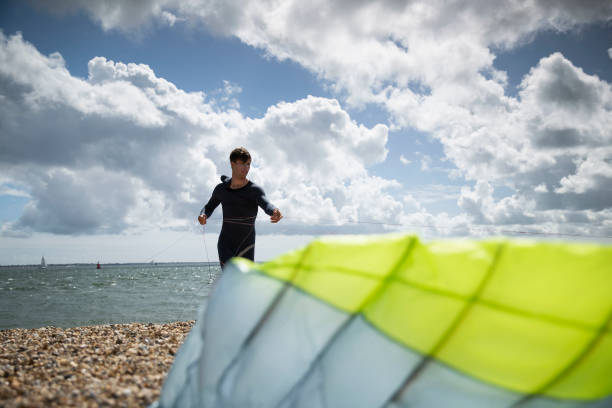 GBR: Kite Surfer Guy Bridges Racing Around the Isle of Wight
