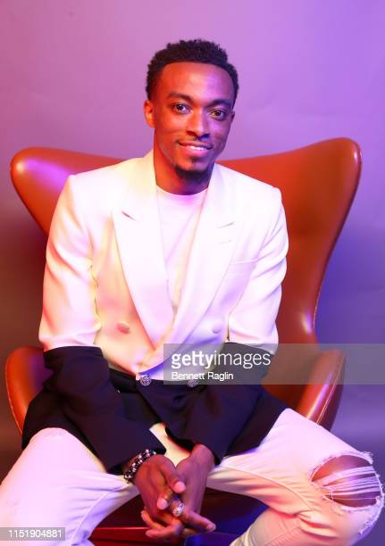 <<enter caption here>> poses for a portrait during the BET Awards 2019 at Microsoft Theater on June 23 2019 in Los Angeles California
