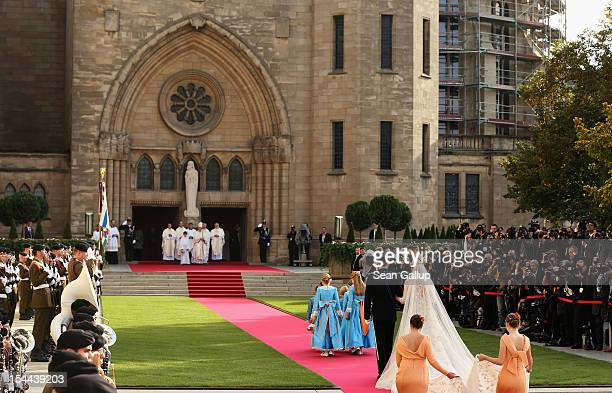 <<enter caption here XXX during the wedding ceremony of Prince Guillaume Of Luxembourg and Stephanie de Lannoy at the Cathedral of our Lady of...