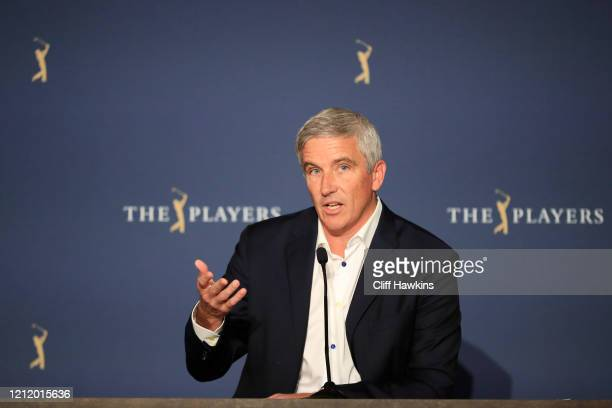 <<enter caption here>>during the first round of The PLAYERS Championship on The Stadium Course at TPC Sawgrass on March 12 2020 in Ponte Vedra Beach...