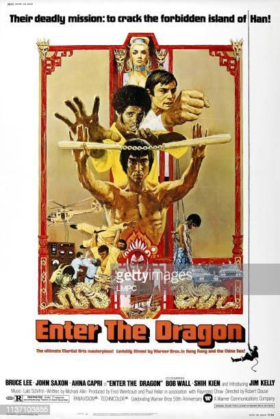 Enter The Dragon poster Bruce Lee Jim Kelly John Saxon Ahna Capri 1973
