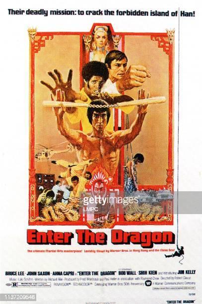 Enter The Dragon poster Bruce Lee John Saxon Ahna Capri Jim Kelly 1973