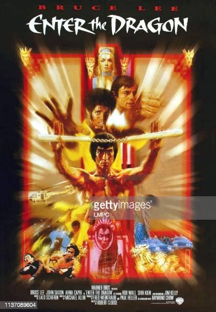 Ahna Capri John Saxon Jim Kelly Bruce Lee on poster art 1973