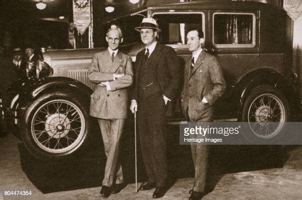 Enter the new Ford', New York City, USA, 1927. Henry Ford , founder of the Ford Motor Company, Tex Rickard , boxing promoter and builder of the...