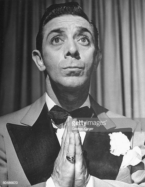 Enterainer George Price doing imitations of Eddie Cantor at a nightclub