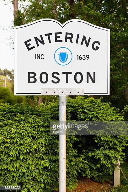 Entering Boston highway marker