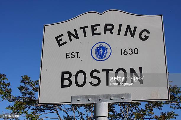 Entering Boston Sign